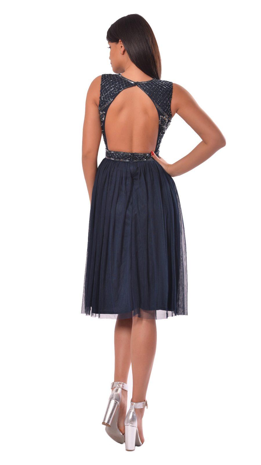Rochie midi cu spatele gol