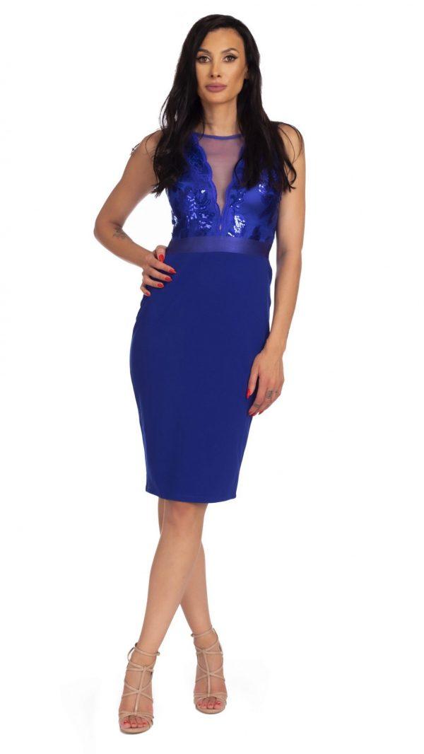 Rochie midi royal blue
