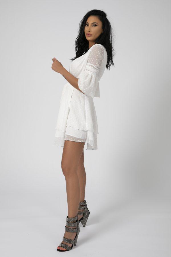 Rochie asimetrica Adriana Alba potrivita pentru a fi purtata la evenimente precum nunta, botez, zi aniversara, etc cat si la o iesire in club cu prietenii 1
