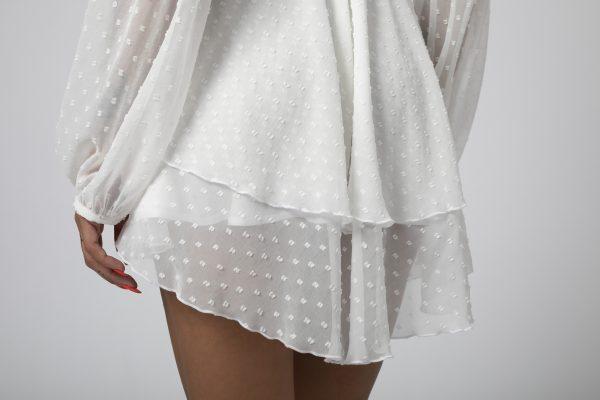 Rochie asimetrica Adriana Alba potrivita pentru a fi purtata la evenimente precum nunta, botez, zi aniversara, etc cat si la o iesire in club cu prietenii 3
