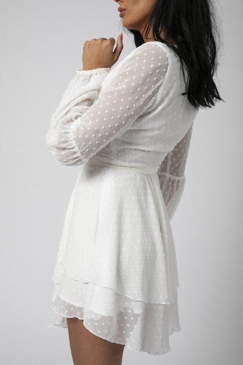 Rochie asimetrica Adriana Alba potrivita pentru a fi purtata la evenimente precum nunta, botez, zi aniversara, etc cat si la o iesire in club cu prietenii 4