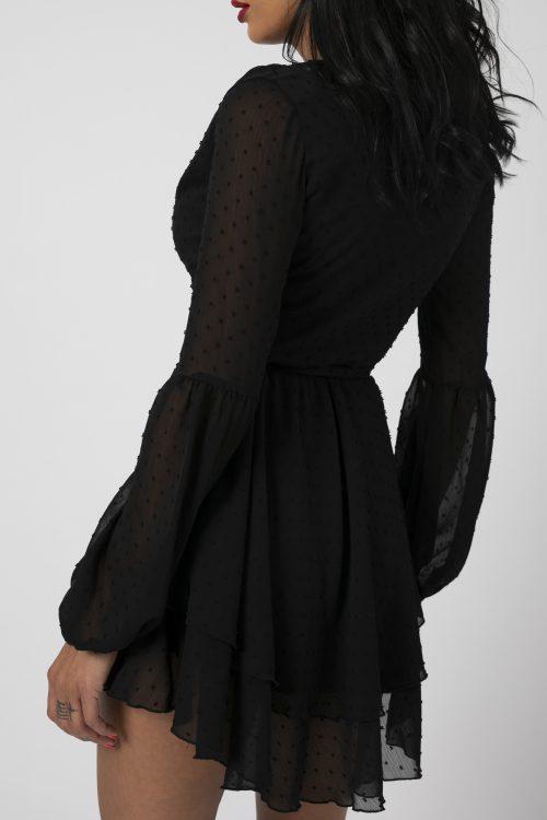 Rochie asimetrica Adriana Neagra potrivita pentru a fi purtata la evenimente precum nunta, botez, zi aniversara, etc cat si la o iesire in club cu prietenii. 4